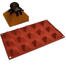 Silicone Pyramid 15 cavities Cake Mold Ice Pudding chocolate sugarcraft mould