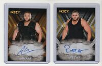 "2017 Topps WWE NXT Autograph Card  Akam #'d /99 & Rezar ""Authors of Pain"""