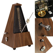 Antique Mechanical Metronome Teak Wood Vintage Style Wooden Color Music Timer