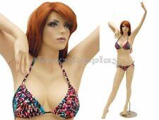 Sexy Big Bust Female Fiberglass Mannequin Fleshtone Dress Form Display Md Ack6x