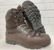ITURRI BROWN LEATHER COLD WET WEATHER COMBAT BOOTS - 8 Med - British Army Issue