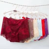 Rose Panties Women Lace Sexy Briefs Underwear Ladies Lace Lingerie Solid c