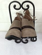 "MI.IM SHOES Size 8 Suede & Tulle Ankle strap brown color ""NATALIE 02""(CHO3FC)"