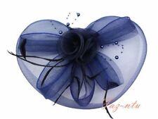 Gauze Hat Head Clip Fascinator Red Navy White Pink Black Cream Wedding Occasion