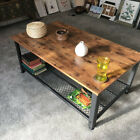 Industrial Coffee Table Vintage Retro Living Room Furniture Steel Frame Side End