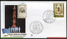 ITALY 2001 St.ROSE of VITERBO/ART/PAINTING/SAINTS/ANGELS/FOLKLORE/TRADITION FDC