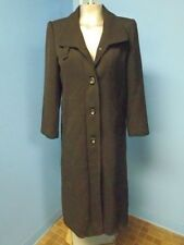 59436 CONGSHI SUPER Long Black Tailored  Women Coat Jacket SZ S