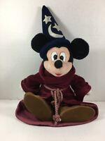 "Walt Disney World Mickey Mouse Plush FANTASIA MAGIC Sorcerer Doll 16"""