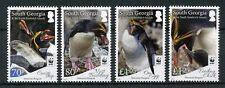 South Georgia & Sandwich Is 2017 MNH Macaroni Penguins WWF 4v Set Birds Stamps