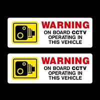 2 x Warning On Board CCTV Dashcam Operating - Security Sign - Car, Vans, Lorry