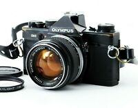 Olympus OM-2 Black SLR Film Camera with G.Zuiko 50mm f/1.4 EXC+++ From Japan