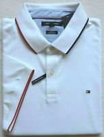 Tommy Hilfiger Men's Slim Fit Short Sleeve Polo, White, Size: XXL
