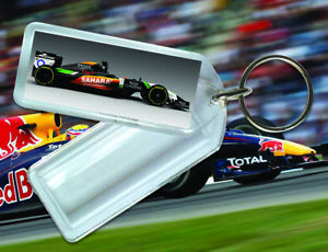 Reopening Insert Key Ring - F1 clear acrylic fobs made in the UK, 50x20mm insert