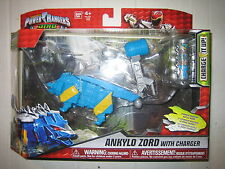 Power Ranger Dino super charge Ankylo zord megazord MISB Rare Aqua Blue version