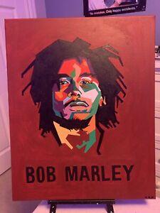 Original Bob Marley Painting