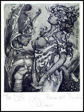 Agirba Ruslan 2013 Exlibris C3 Eros and Psychea Erotic Erotik Nude Woman Sex 342