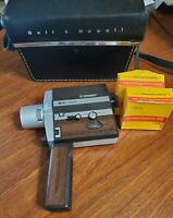 1970 Bell & Howell Autoload 309 Suoer 8 Movie Camera, Case & 2 Color Film