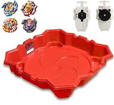 Ultimate Beyblade Burst Lot Beystadium Set 4 Beyblades + 2 Launchers + Stadium
