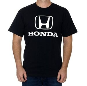Men's Honda Black T-shirt Honda Auto White Logo HND803BS14BLKWHT