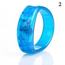 Fashion LED Light Up Flashing Bracelet Bangle Wristband Glow Blinking Party Gift