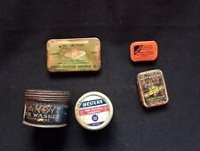 LOT Vintage Shop Tins & DIAMOND Edge Norvell-hapleigh Stone Fuses Torch Ligts