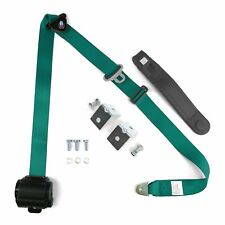 3pt Aqua Retractable Seat Belt With Angled Mounting Brackets - Standard Buckle