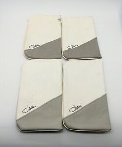 Vintage Cazal Lot of 4 Two Tone Leather Caring Cases For Eyeglasses, As-Is