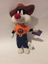 Sylvester The Cat 1998 Peace Shirt Looney Tunes 10�plush With Tag