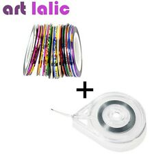 30 PCS Mixed Color Nail Sticker Rolls Striping Tape Line Tips DIY + Case Tool