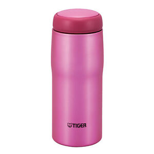 Tiger Stainless Steel Pink Coffee Thermal Tumbler Bottle Made in Japan MJA-A048