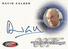 "James Bond In Motion - A117 David Calder ""Sir Robert King"" Autograph Card"
