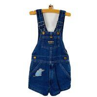 Vintage Oshkosh Vestbak Denim Overall Shorts Shortalls Eeyore Patch Size 4 USA