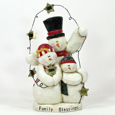 "Midwest of Cannon Falls FAMILY BLESSINGS 10"" Figurine Snowman 2003 Eddie Walker"