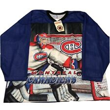 Vtg NWT Montreal Canadiens Hockey Jersey 90s Ccm Habs NEW All Over Print
