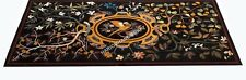 5'X3' Marble Dining Table Top Elegant Bird And Floray Inlay Home Decors E510