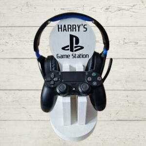 Gaming headset controller stand station Xbox PS Playstation Personalised
