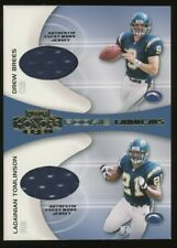 2001 Drew Brees LaDainian Tomlinson Playoff Honors Dual Patch Rookie Rc *NICE*