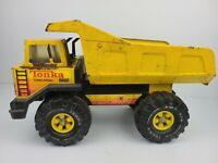 Vintage 1980's Mighty Tonka XMB-975 Loader Metal Dump Truck Yellow Turbo Diesel