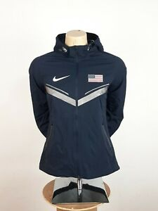 Nike Storm Fit Rain Jacket Navy Size S USA Olympic Team 2012 Hooded Rare Women's