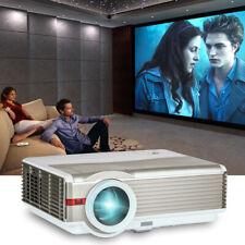 "EUG 8000Lumen Home Theater Projectors 200"" Widescreen HD For Halloween Party KTV"