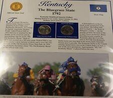 2001 Kentucky P&D Quarter for Anniversary of Statehood Bonus Stamp
