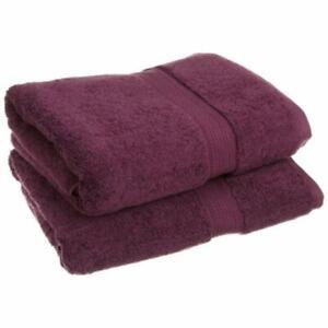 900GSM Egyptian Cotton 2-Piece Bath Towel Set Plum