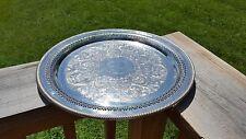 Vintage International Silver Co Round Platter Decorative Formal Serving