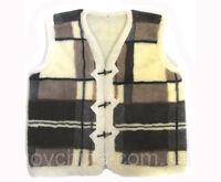 Sheepskin Vest for Men & Women Body warmer two layer Height 78cm, Length 148cm