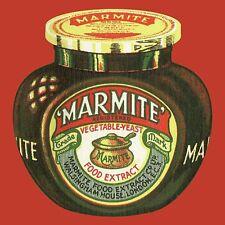 Marmite Vintage Jar cork backed drinks mat / coaster (red) (hb)