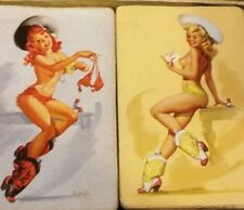 RARE  QUICK ON THE DRAW HIRES BOTTLING CO PLAYING CARDS NUDE LADIES RISQUE LADY