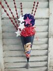 Bethany Lowe Inspired Americana Cone with Patriotic Embellishments