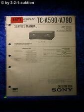 Sony Service Manual TC a590/a790 cassette Deck (#1471)