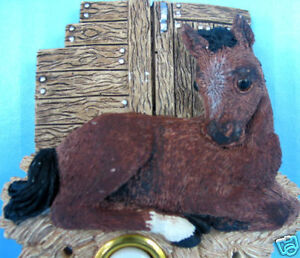 Handpainted Horse Equestrian Front Door Bell Doorbell Pony Animal Illuminates