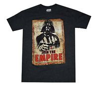 Star Wars Darth Vader Join The Empire Black Speckled Men's Graphic T-Shirt New